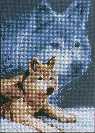 click here to view larger image of Forever Wild Wolf (counted cross stitch kit)