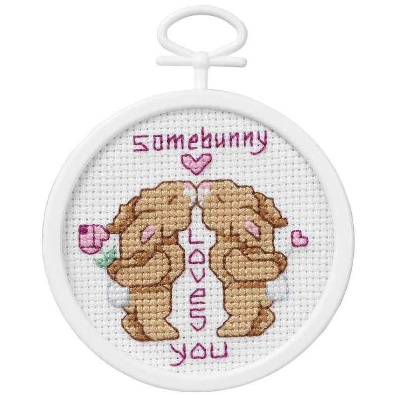click here to view larger image of Some Bunny Loves You (counted cross stitch kit)