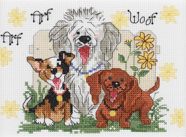 click here to view larger image of Dogs of Duckport Mini - Suzys Zoo (counted cross stitch kit)