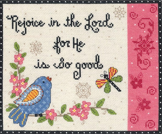 click here to view larger image of Rejoice In The Lord (counted cross stitch kit)