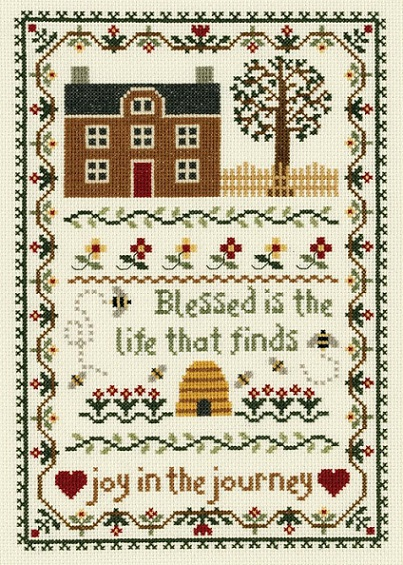 click here to view larger image of Joy In The Journey (counted cross stitch kit)