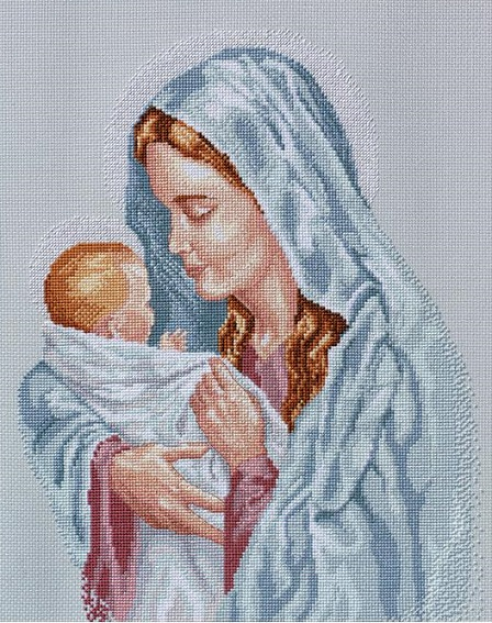 click here to view larger image of Blessed Mother, The (counted cross stitch kit)