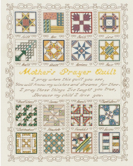click here to view larger image of Mothers Prayer, A (counted cross stitch kit)