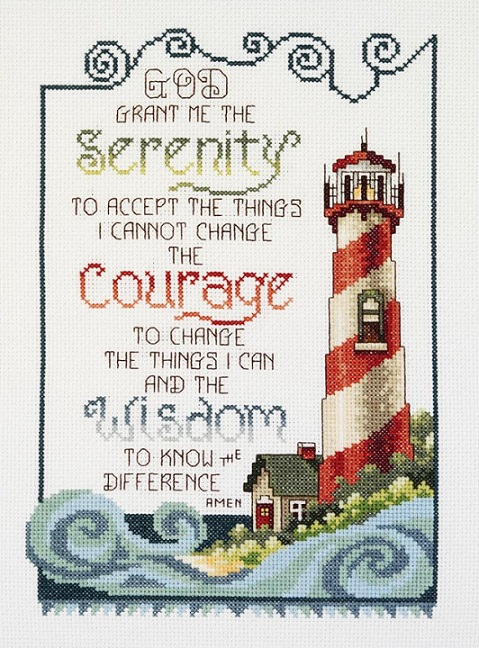 click here to view larger image of Serenity Lighthouse (counted cross stitch kit)