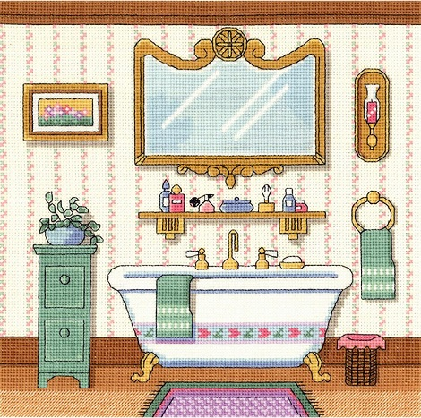click here to view larger image of Victorian Bath (counted cross stitch kit)