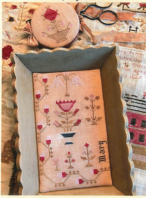 click here to view larger image of Snippets Of Mary Barres Sampler Medium Sewing Tray and Needle Book (chart)