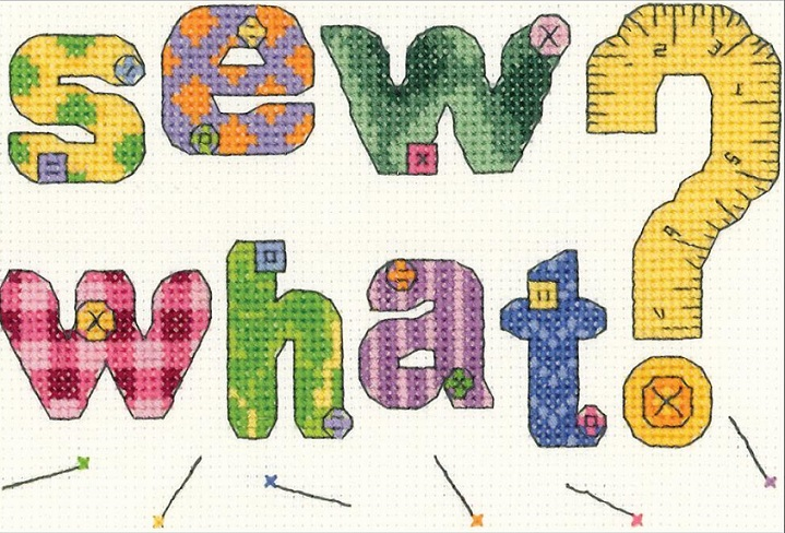 click here to view larger image of Sew What (counted cross stitch kit)