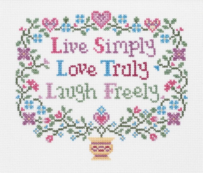 click here to view larger image of Live, Love, Laugh (counted cross stitch kit)