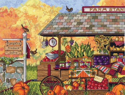 click here to view larger image of Bucks County Farm Stand (counted cross stitch kit)