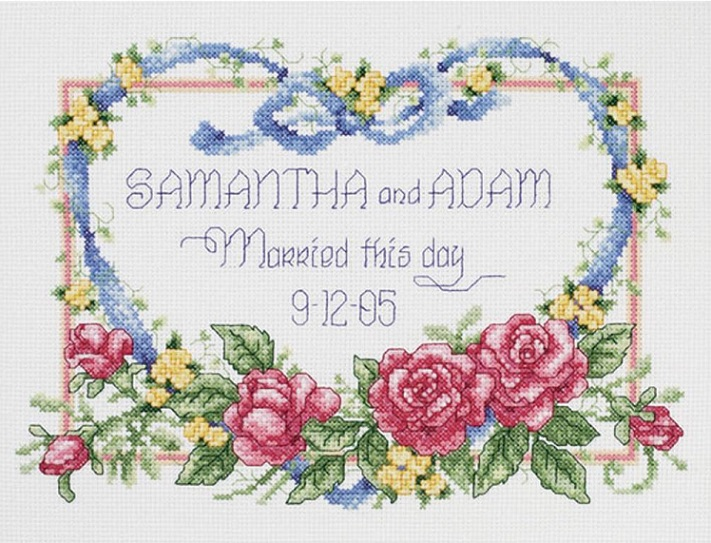 click here to view larger image of Married This Day (counted cross stitch kit)