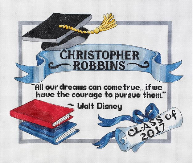 click here to view larger image of Graduation Dreams (counted cross stitch kit)