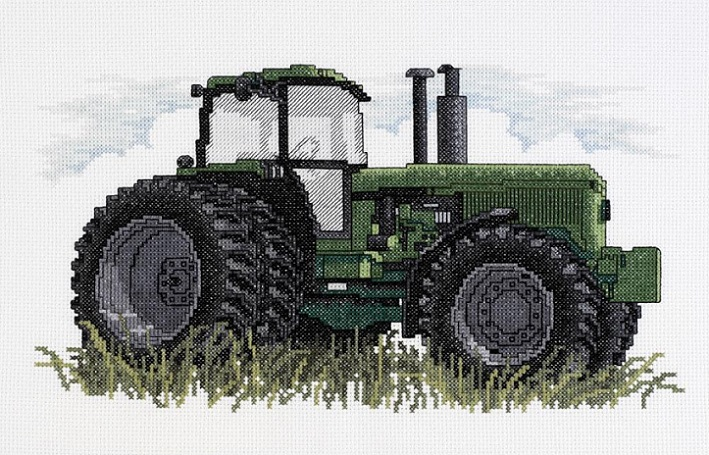 click here to view larger image of Tractor (counted cross stitch kit)