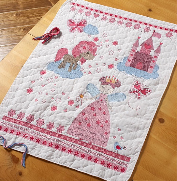 click here to view larger image of Fairytale Princess Crib Cover (stamped crib cover)