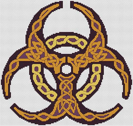 click here to view larger image of Biohazard Knotwork (chart)