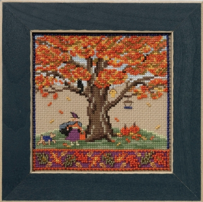 click here to view larger image of Fall Oak - Mighty Oak Series (counted cross stitch kit)