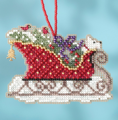 click here to view larger image of Evergreen Sleigh Ride - Charmed Ornament (counted cross stitch kit)