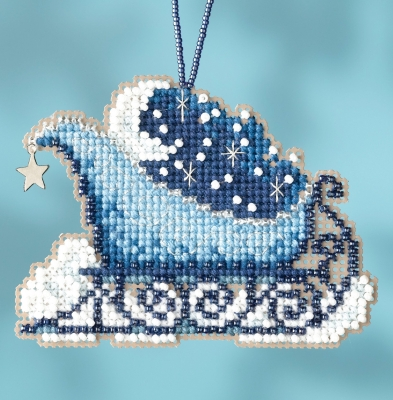 click here to view larger image of Celestial Sleigh Ride - Charmed Ornament (counted cross stitch kit)