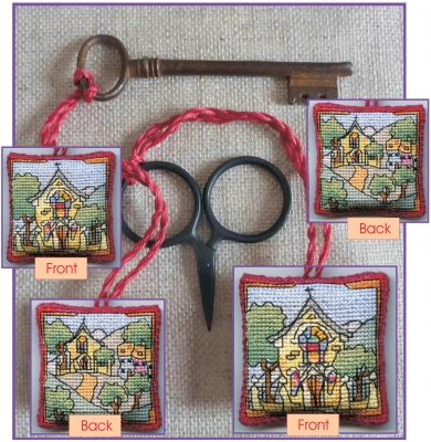 click here to view larger image of Chapel - Scissor/Key Keep (counted cross stitch kit)