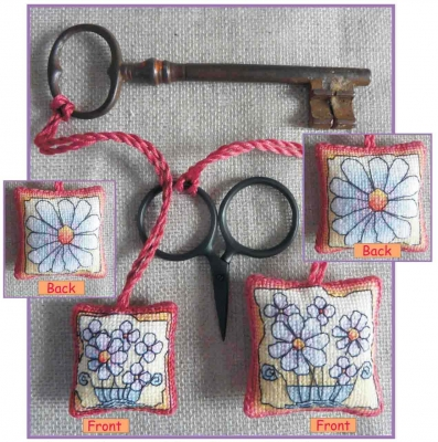 click here to view larger image of Daisies - Scissor/Key Keep (counted cross stitch kit)