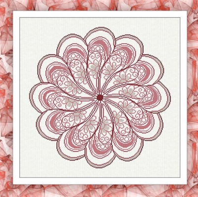 click here to view larger image of Daisy Mandala (chart)