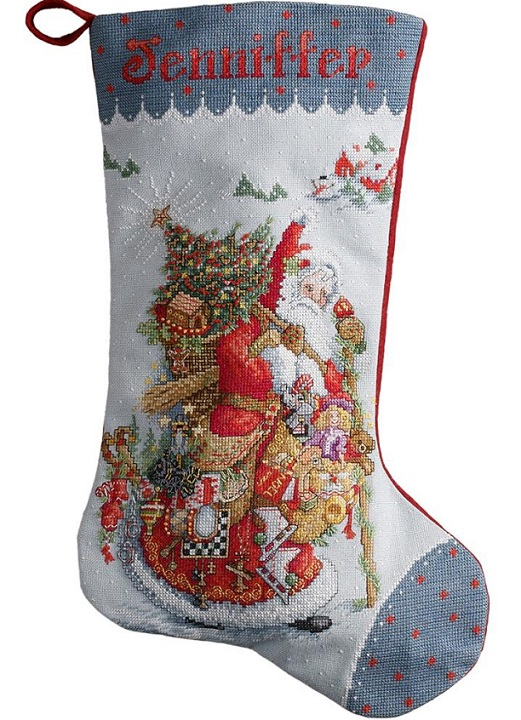 click here to view larger image of Old World Santa Stocking (counted cross stitch kit)