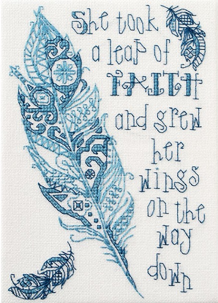 click here to view larger image of Leap of Faith Mini (counted cross stitch kit)