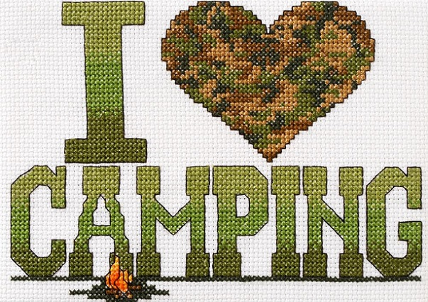 click here to view larger image of I Love Camping Mini (counted cross stitch kit)