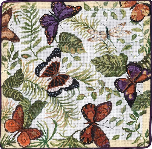 click here to view larger image of Butterflies Galore (counted cross stitch kit)