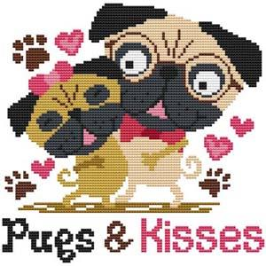 click here to view larger image of Pugs and Kisses (chart)