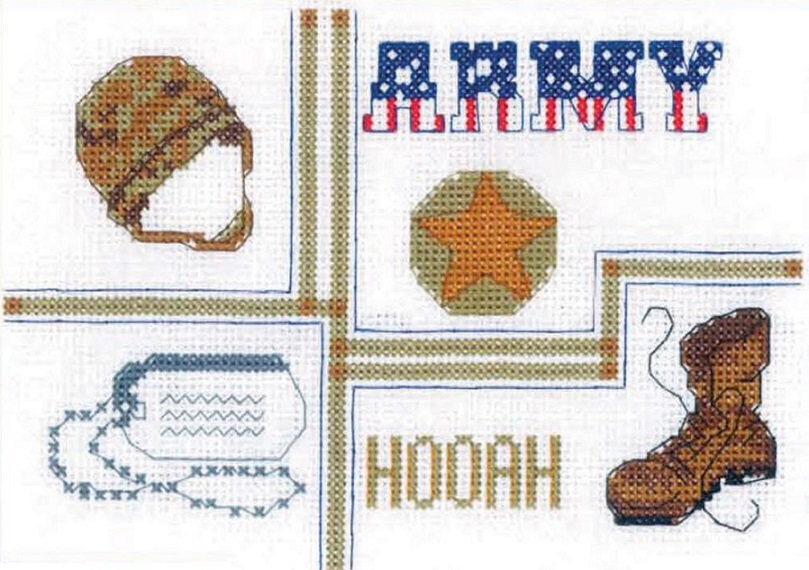 click here to view larger image of Army Sampler (counted cross stitch kit)