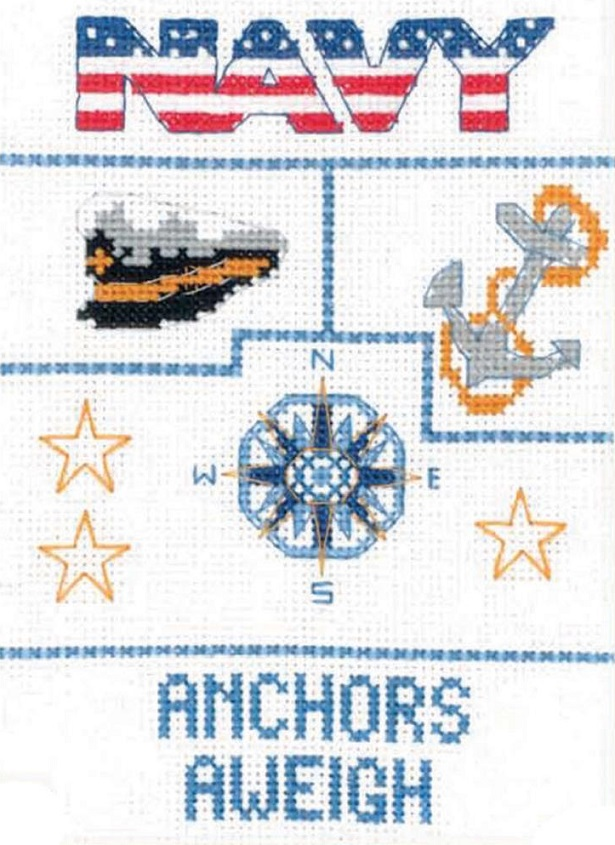 click here to view larger image of Navy Sampler (counted cross stitch kit)