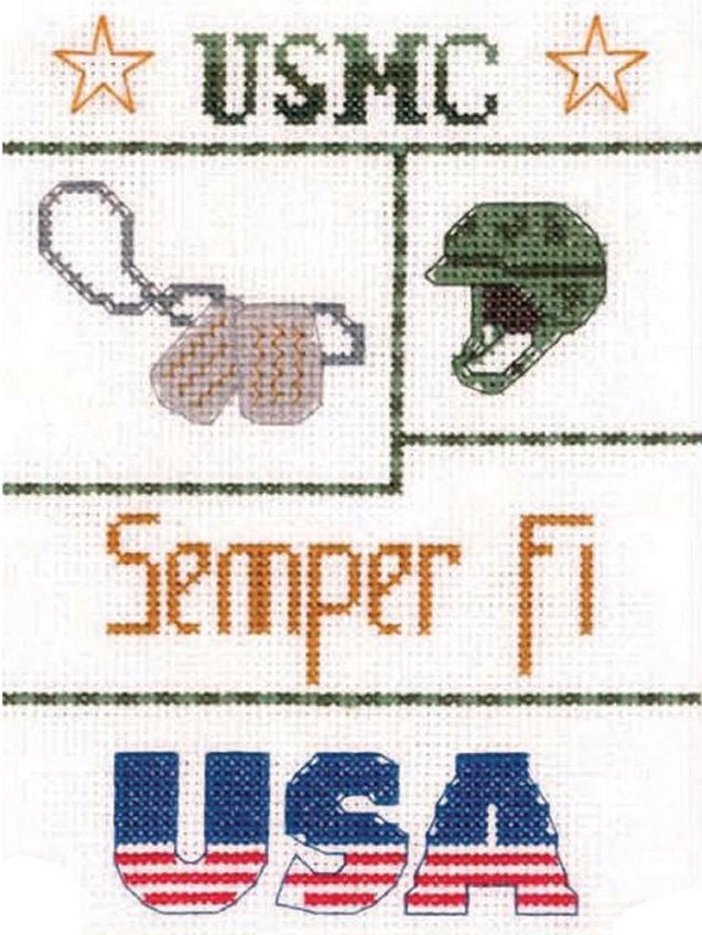 click here to view larger image of Marine Sampler (counted cross stitch kit)
