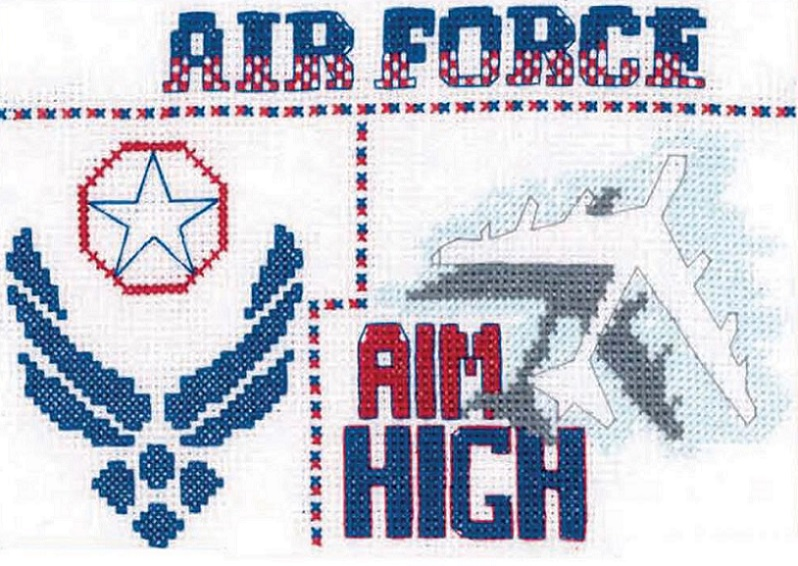 click here to view larger image of Air Force Sampler (counted cross stitch kit)