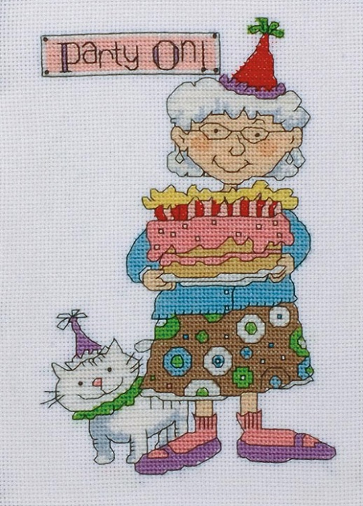 click here to view larger image of Party On (counted cross stitch kit)