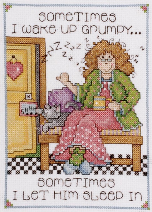 click here to view larger image of Grumpy (counted cross stitch kit)