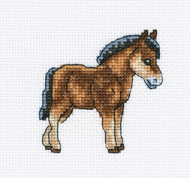 click here to view larger image of Dutch Horse (counted cross stitch kit)