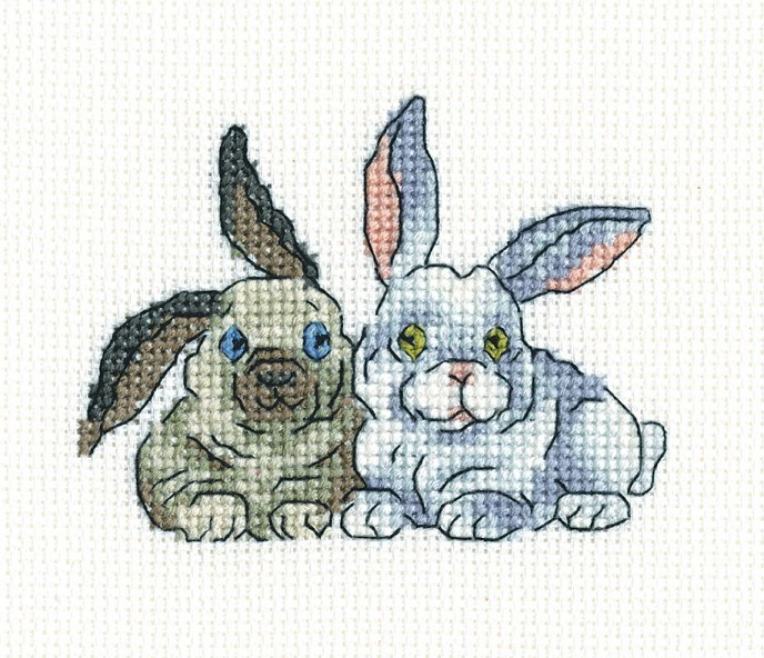 click here to view larger image of Brer Rabbits (counted cross stitch kit)