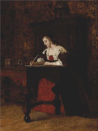 click here to view larger image of Lady Writing A Letter (chart)