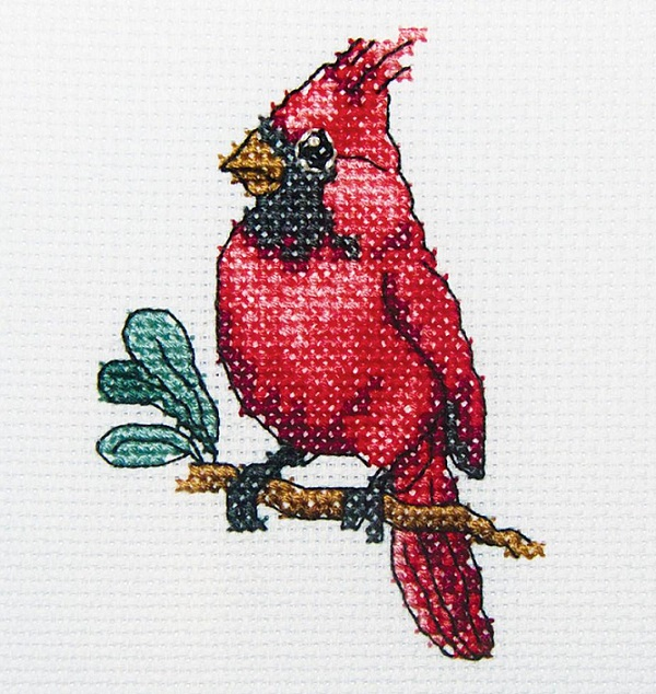 click here to view larger image of Cardinal Bird (counted cross stitch kit)