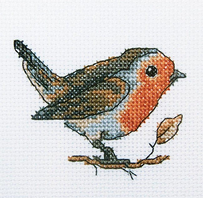click here to view larger image of Redbreast (counted cross stitch kit)