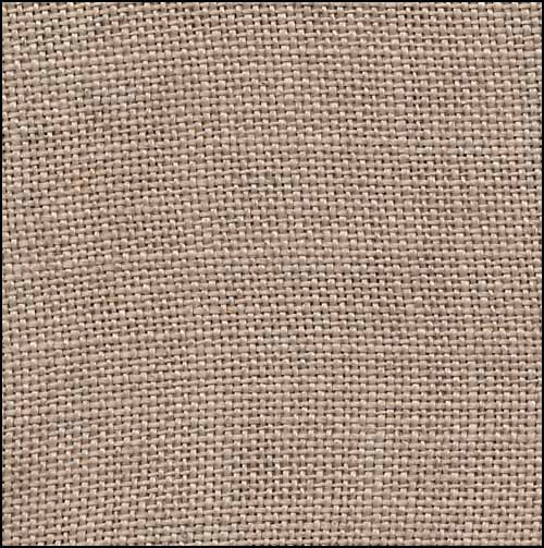 click here to view larger image of Creek Bed Brown 32ct Hand Dyed Linen (R and R Reproduction Linens)