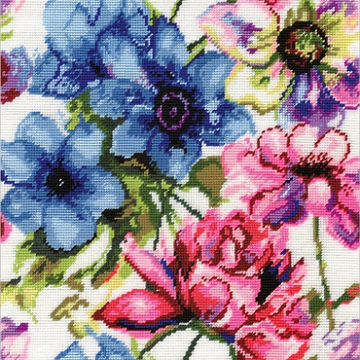 click here to view larger image of Watercolor Floral (needlepoint)