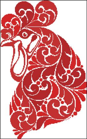 click here to view larger image of Year Of The Rooster Silhouette (chart)
