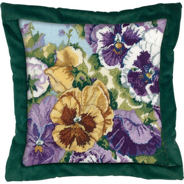 click here to view larger image of Glorious Pansies (needlebox)
