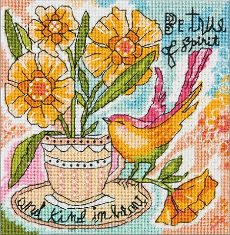 click here to view larger image of Be True of Spirit (needlepoint)