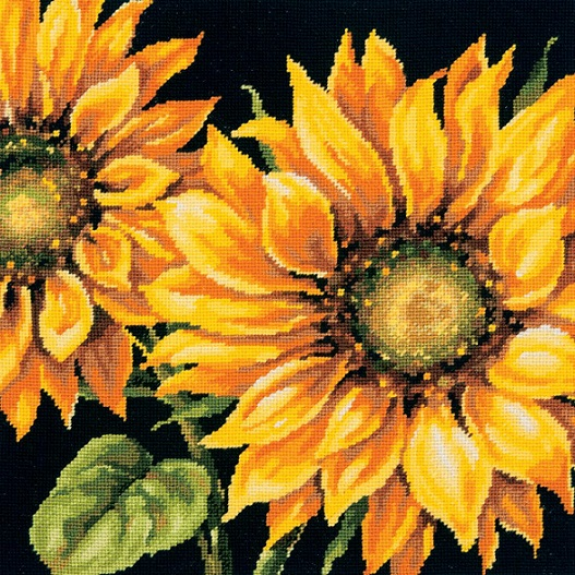 click here to view larger image of Dramatic Sunflower (needlepoint)