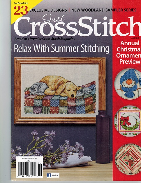 click here to view larger image of Just Cross Stitch - July/August 2017 (magazines)