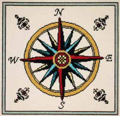 click here to view larger image of Compass Rose (counted cross stitch kit)