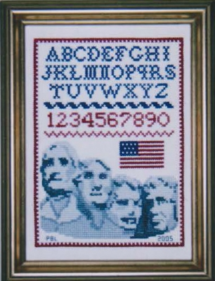 click here to view larger image of Mount Rushmore Petite Sampler (counted cross stitch kit)