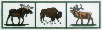click here to view larger image of Grand Teton Wildlife Sampler (counted cross stitch kit)
